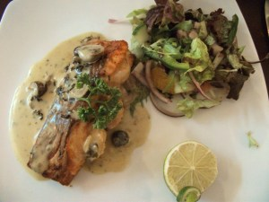 Stuffed Salmon Steak