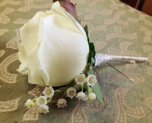 Rose and Lily of the Valley Buttonhole