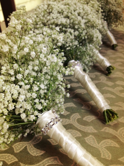 Bridesmaids Posies of Gypsophila
