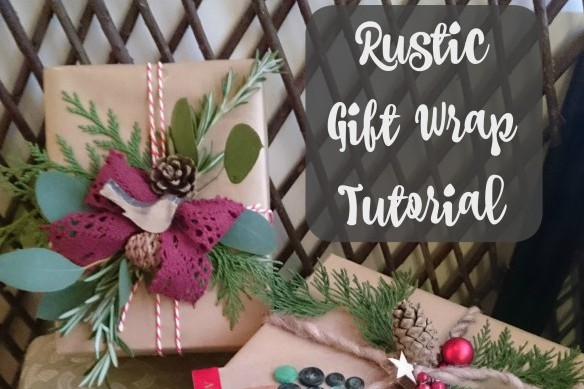 Rustic Gift Wrap Tutorial